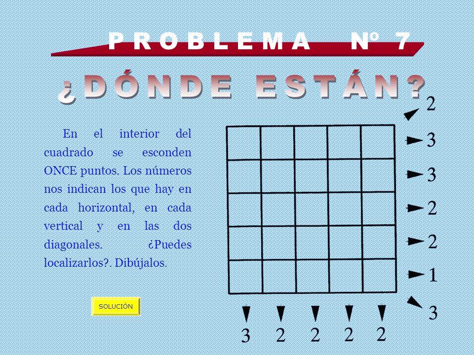 P R O B L E M A Nº 7 En el interior del cuadrado se esconden ONCE puntos.