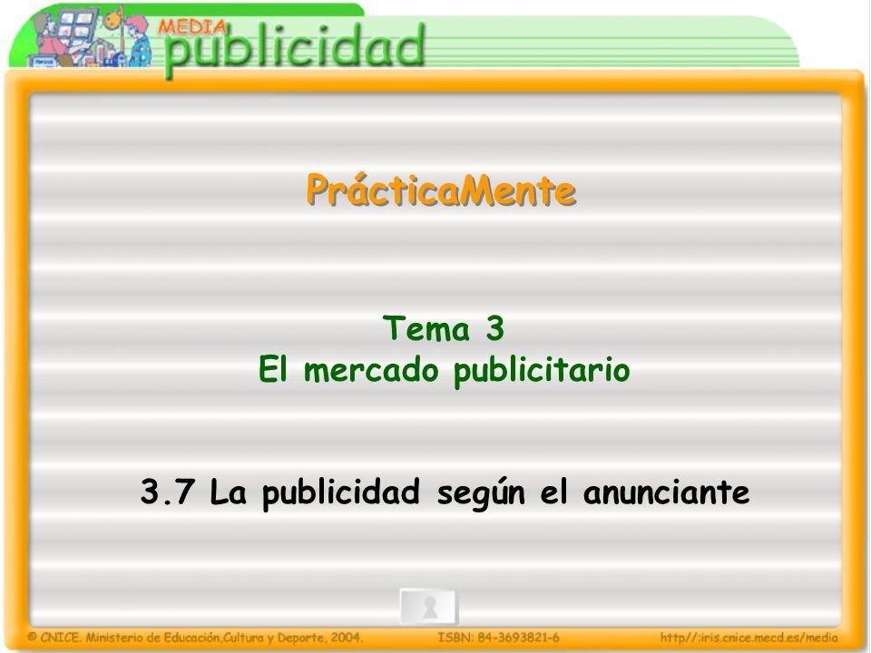 Tema 3 El mercado publicitario 3.7 La publicidad según el anunciante PrácticaMente