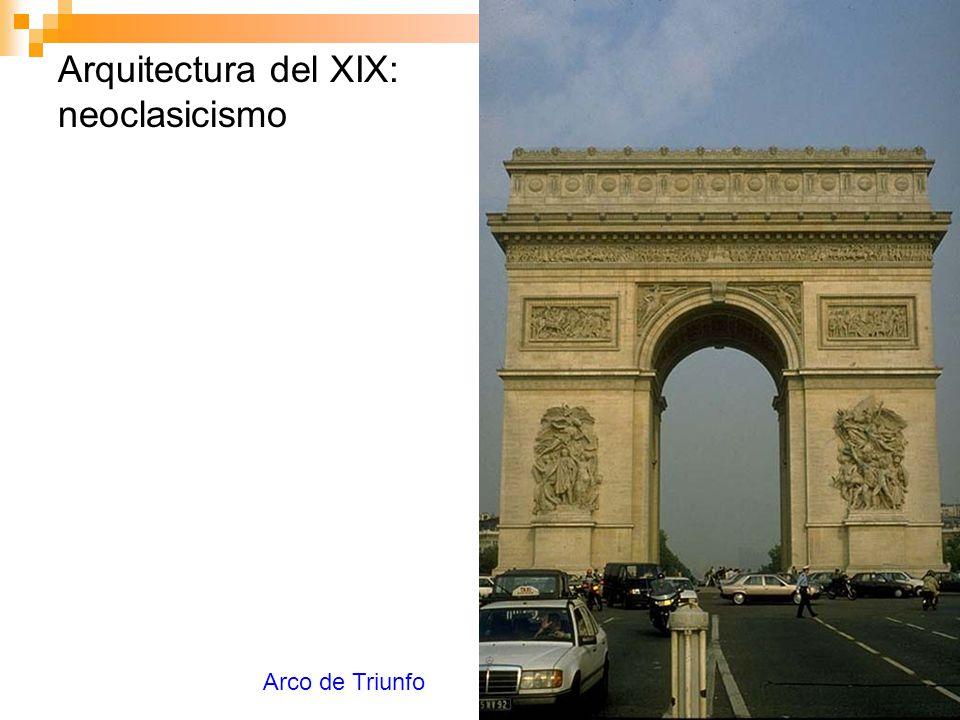 Arquitectura del XIX: neoclasicismo Arco de Triunfo