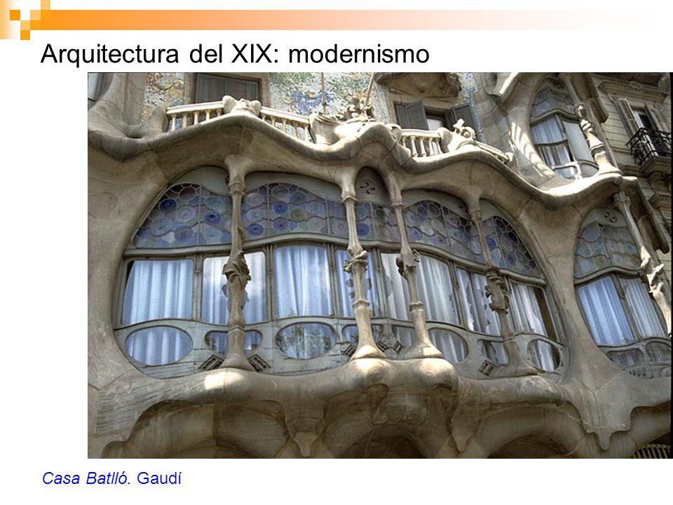 Arquitectura del XIX: modernismo Casa Batlló. Gaudí