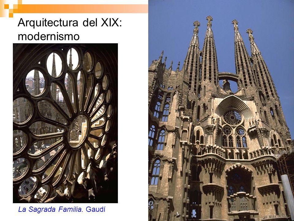 Arquitectura del XIX: modernismo La Sagrada Familia. Gaudí