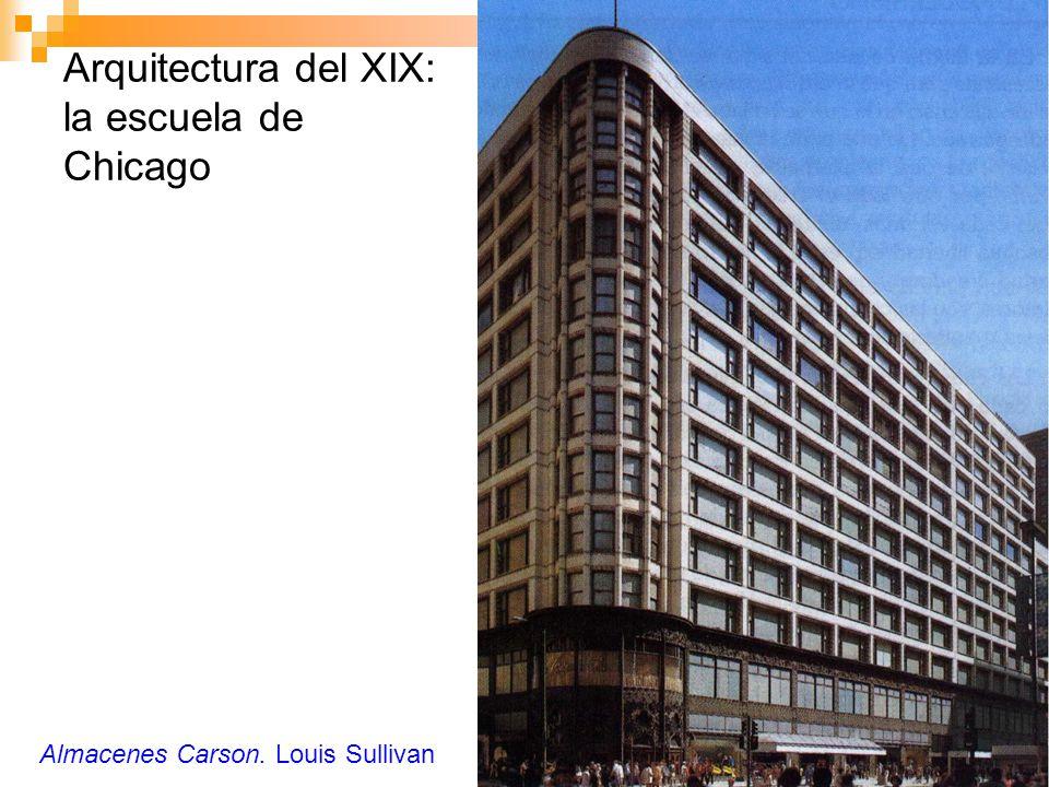 Arquitectura del XIX: la escuela de Chicago Almacenes Carson. Louis Sullivan