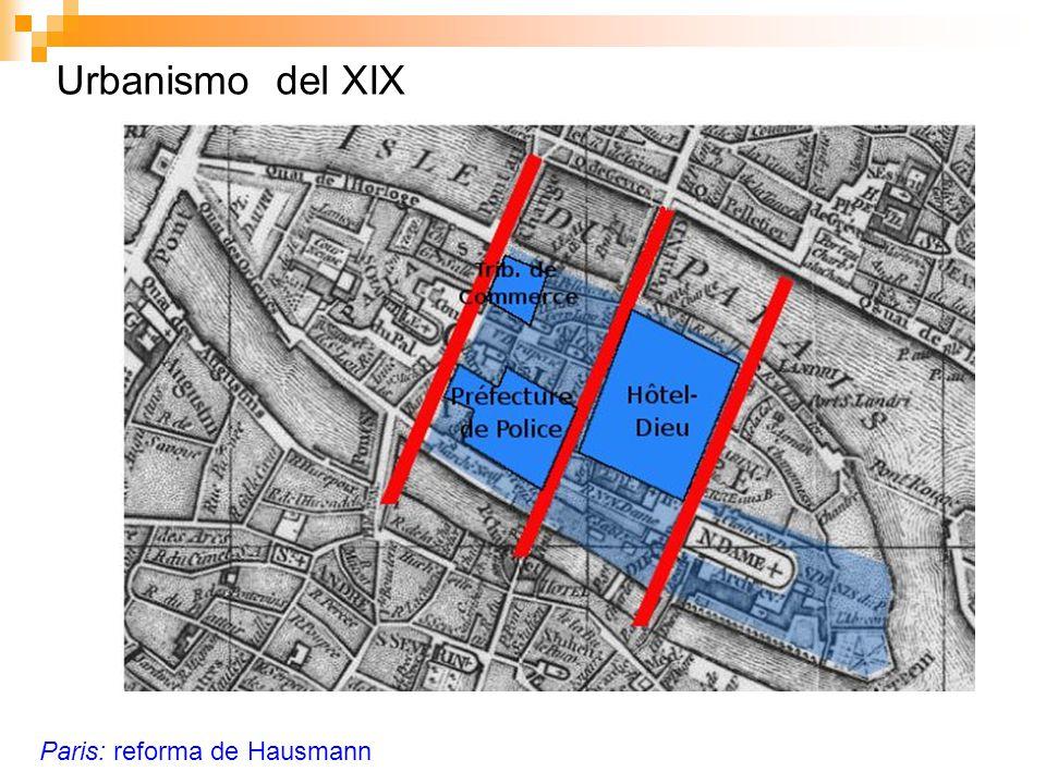 Urbanismo del XIX Paris: reforma de Hausmann