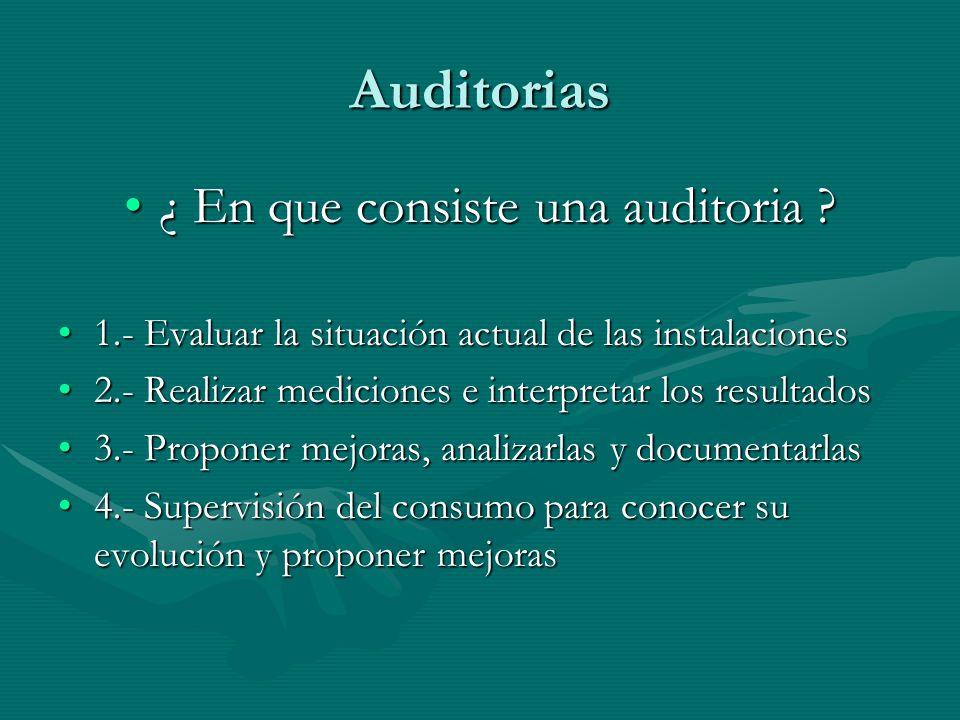 Auditorias ¿ En que consiste una auditoria ¿ En que consiste una auditoria .