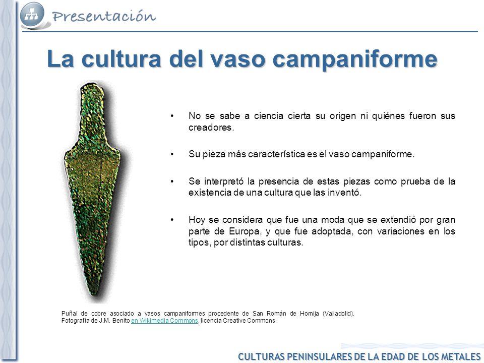 CULTURAS PENINSULARES DE LA EDAD DE LOS METALES Puñal de cobre asociado a vasos campaniformes procedente de San Román de Hornija (Valladolid). Fotogra