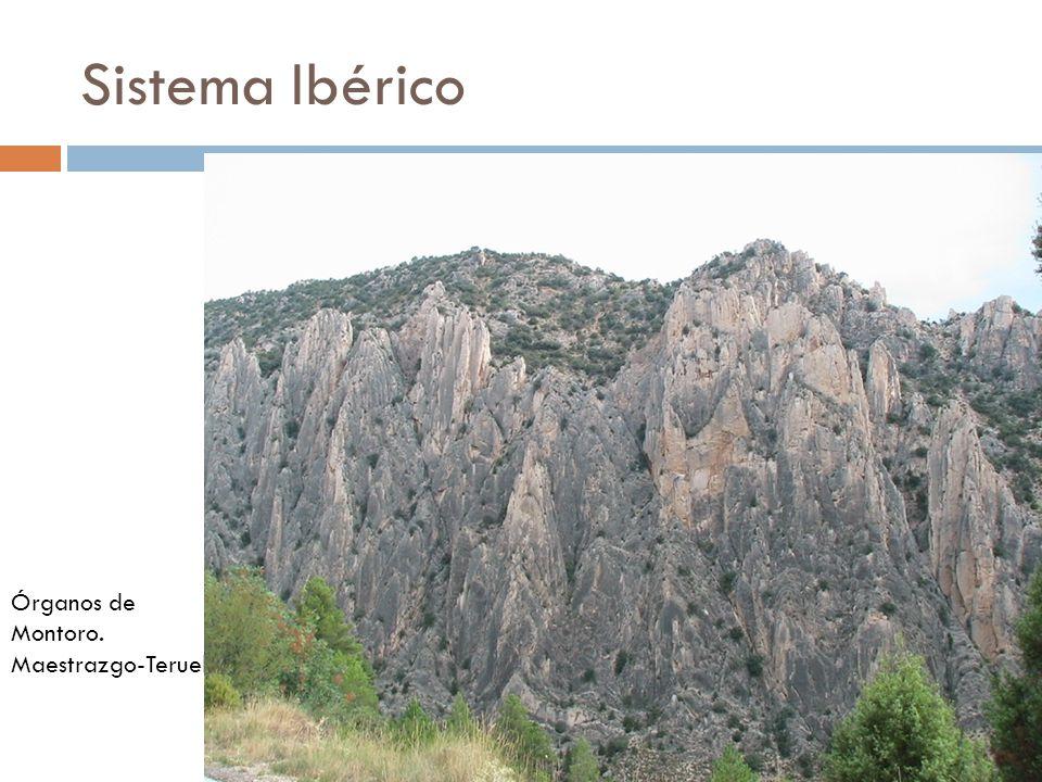 Sistema Ibérico Órganos de Montoro. Maestrazgo-Teruel