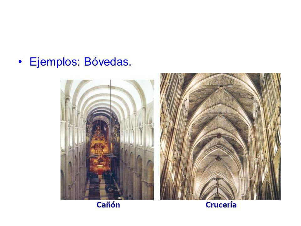 Ejemplos: Bóvedas. CañónCrucería