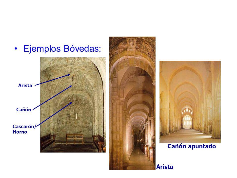 Ejemplos Bóvedas: Arista Cañón apuntado Cascarón/ Horno Arista Cañón