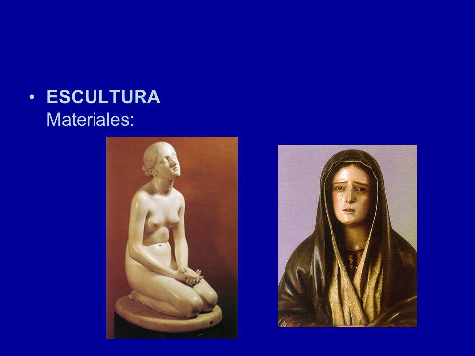 ESCULTURA Materiales: