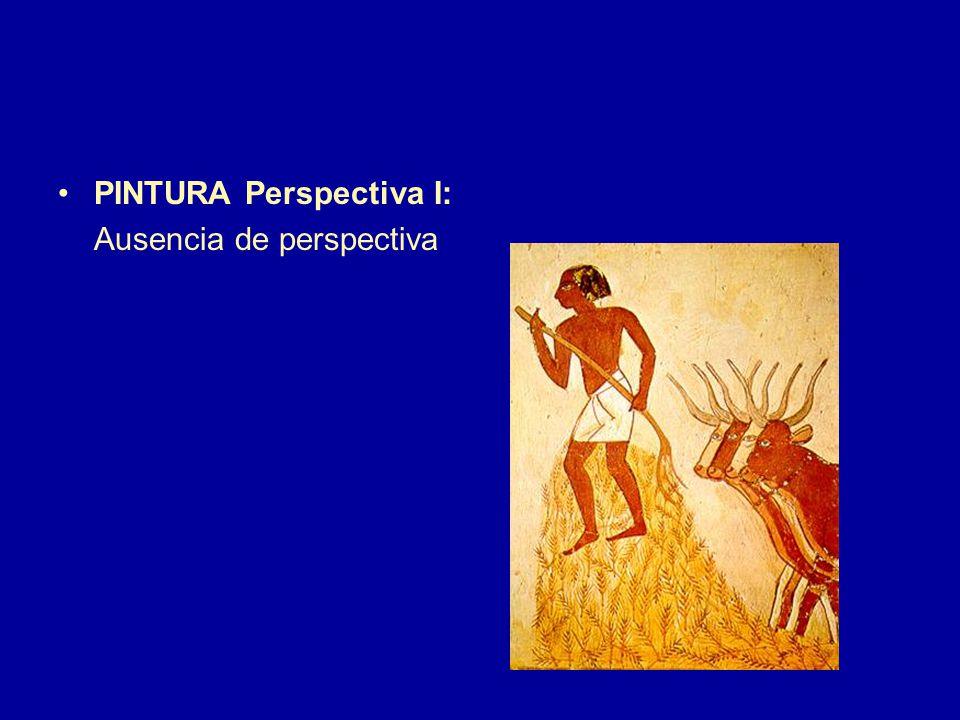 PINTURA Perspectiva I: Ausencia de perspectiva