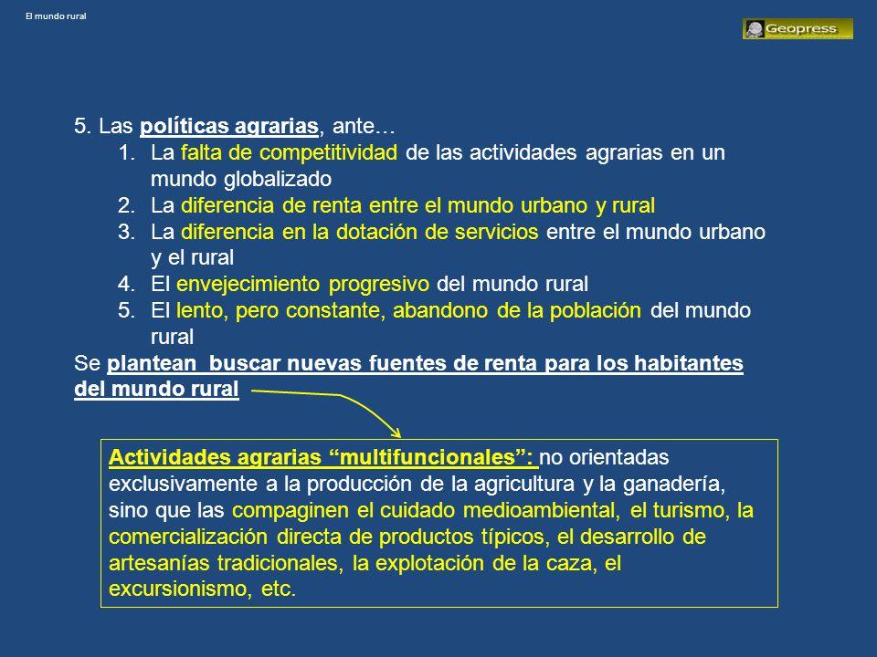 El mundo rural 2001 ESPAÑA.POBLACIÓN QUE VIVE EN MUNICIPIOS DE MENOS DE 10.000 HABITANTES.