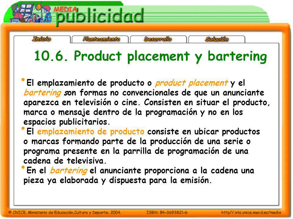 El emplazamiento de producto o product placement y el bartering son formas no convencionales de que un anunciante aparezca en televisión o cine. Consi