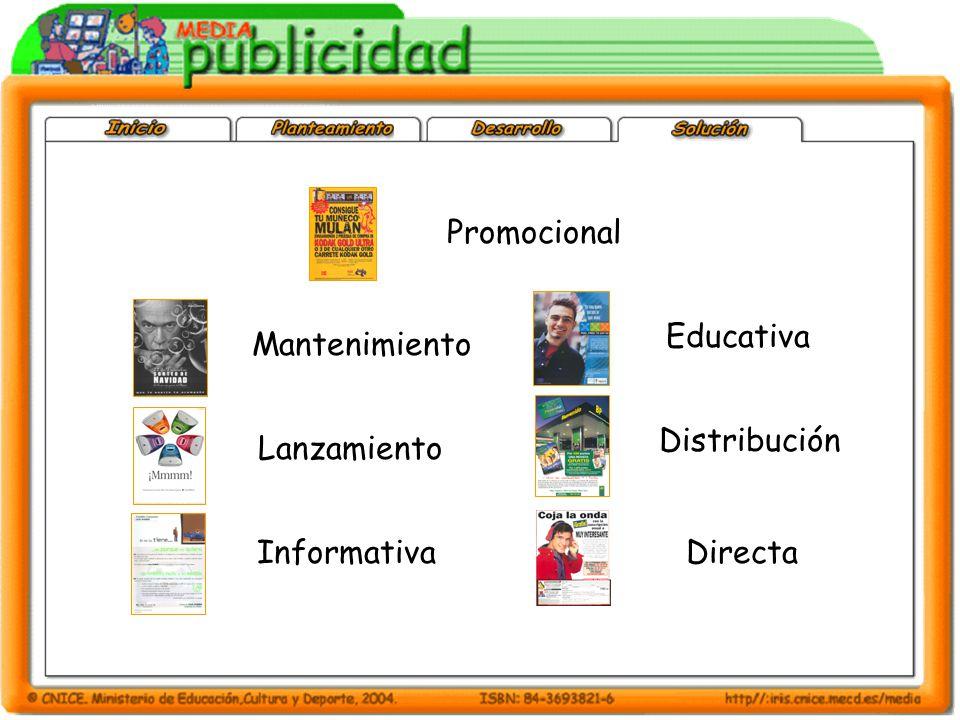 Promocional Mantenimiento Lanzamiento Informativa Educativa Distribución Directa