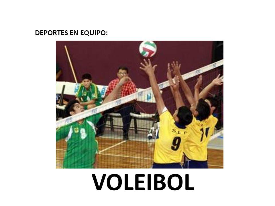 DEPORTES EN EQUIPO: VOLEIBOL