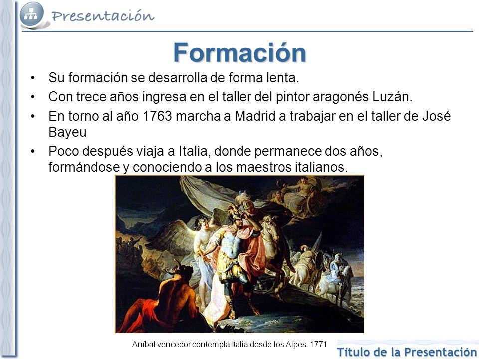 Título de la Presentación Goya en Madrid En el año 1775 Goya llega a Madrid y sus primeros encargos son cartones (bocetos en óleo sobre lienzo) para tapices en los que muestra escenas de la vida del día a día.