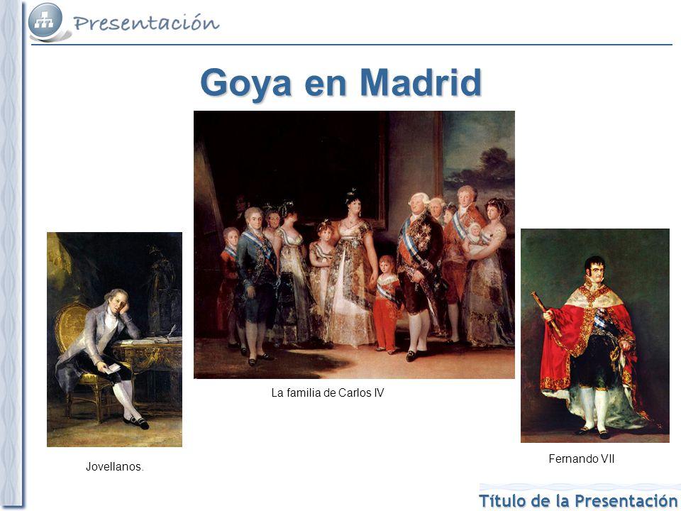 Título de la Presentación Los Caprichos Fue su obra más original hasta el momento.