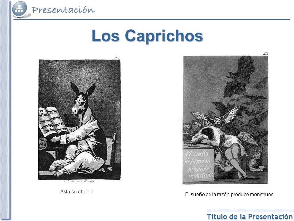 Título de la Presentación La entrada en el siglo XIX Goya va reafirmando cada más claramente su estilo, cada vez más original, con temas sociales y un uso de la pintura particular en el que el peso está en el color más que en el dibujo.