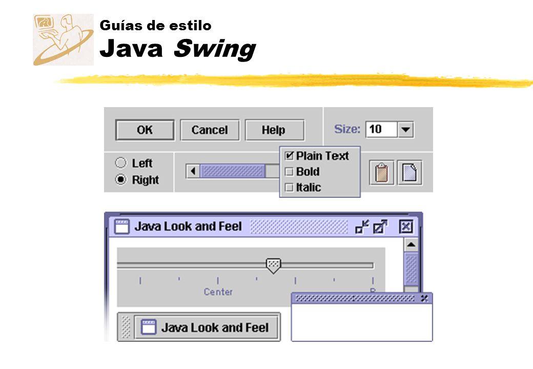 Guías de estilo Java Swing