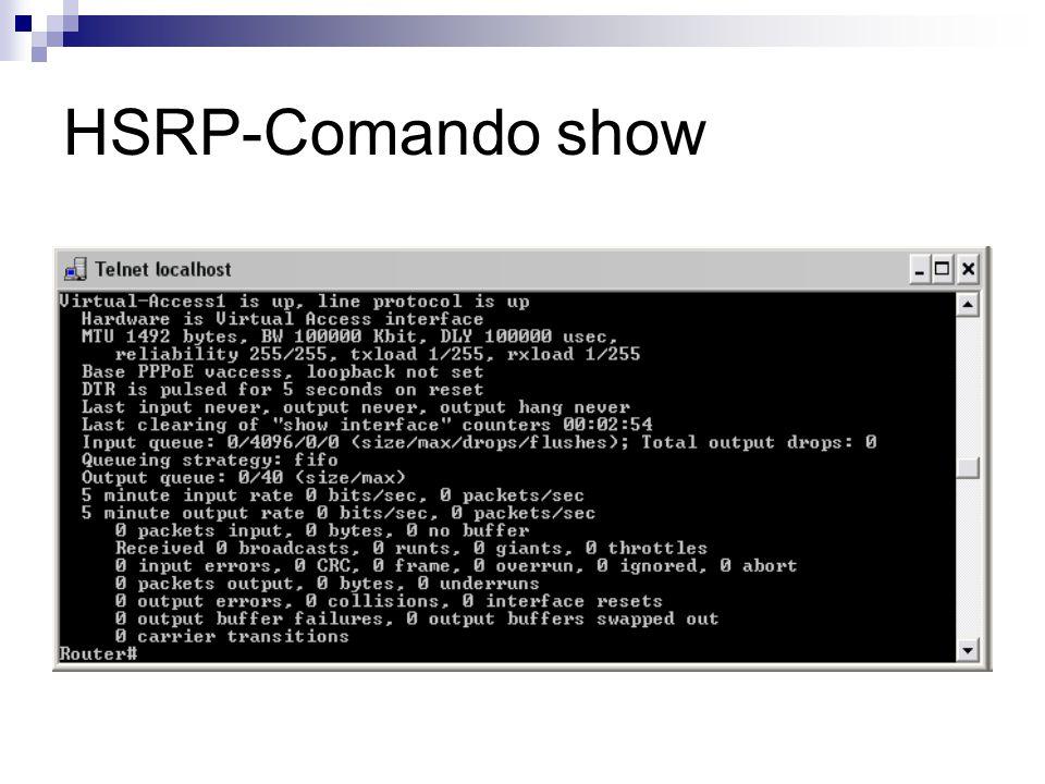 HSRP-Comando show