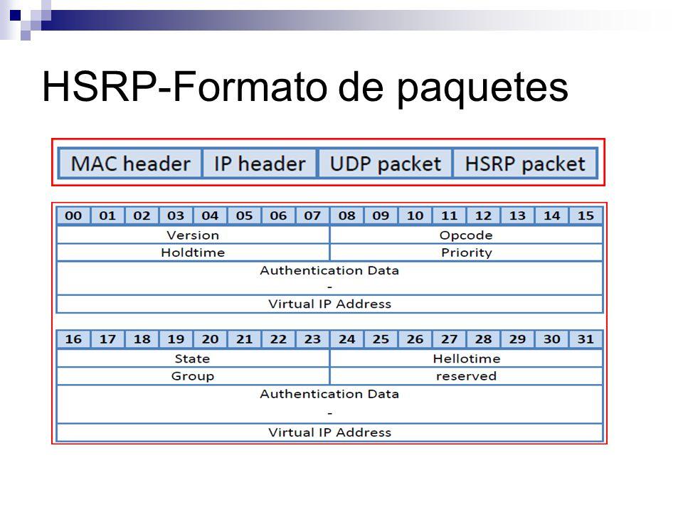 En estas fotos también podemos observar que la MAC que se utiliza cuando el archivo llega al router que tiene configurado hsrp, pasa a ser la del propio router, y no la virtual.