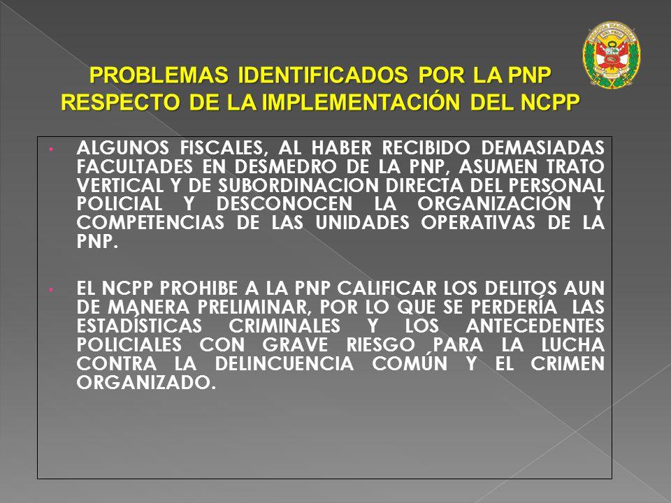 EL NCPP PRESENTA CONTRADICCIONES CON LA FINALIDAD CONSTITUCIONAL DE LA PNP DE INVESTIGAR LOS DELITOS, AL ESTABLECER ARTÍCULOS QUE LE FACULTAN INVESTIG