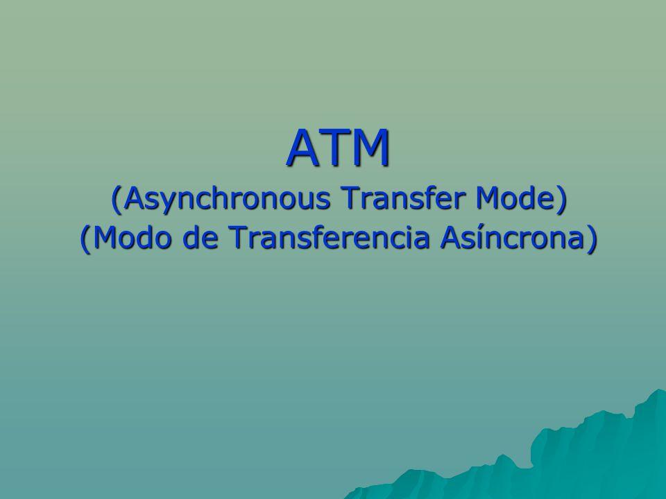 ATM (Asynchronous Transfer Mode) (Modo de Transferencia Asíncrona)
