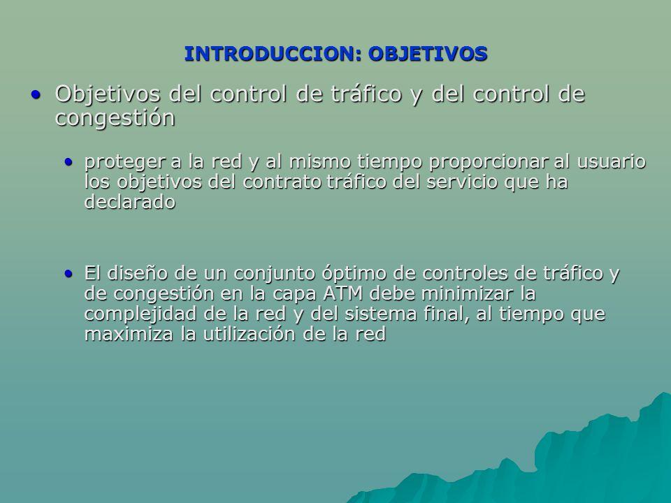 INTRODUCCION: OBJETIVOS Objetivos del control de tráfico y del control de congestiónObjetivos del control de tráfico y del control de congestión prote