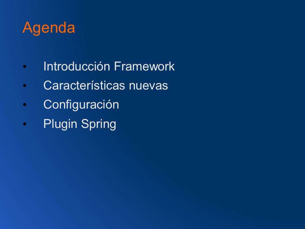 Agenda Introducción Framework Características nuevas Configuración Plugin Spring