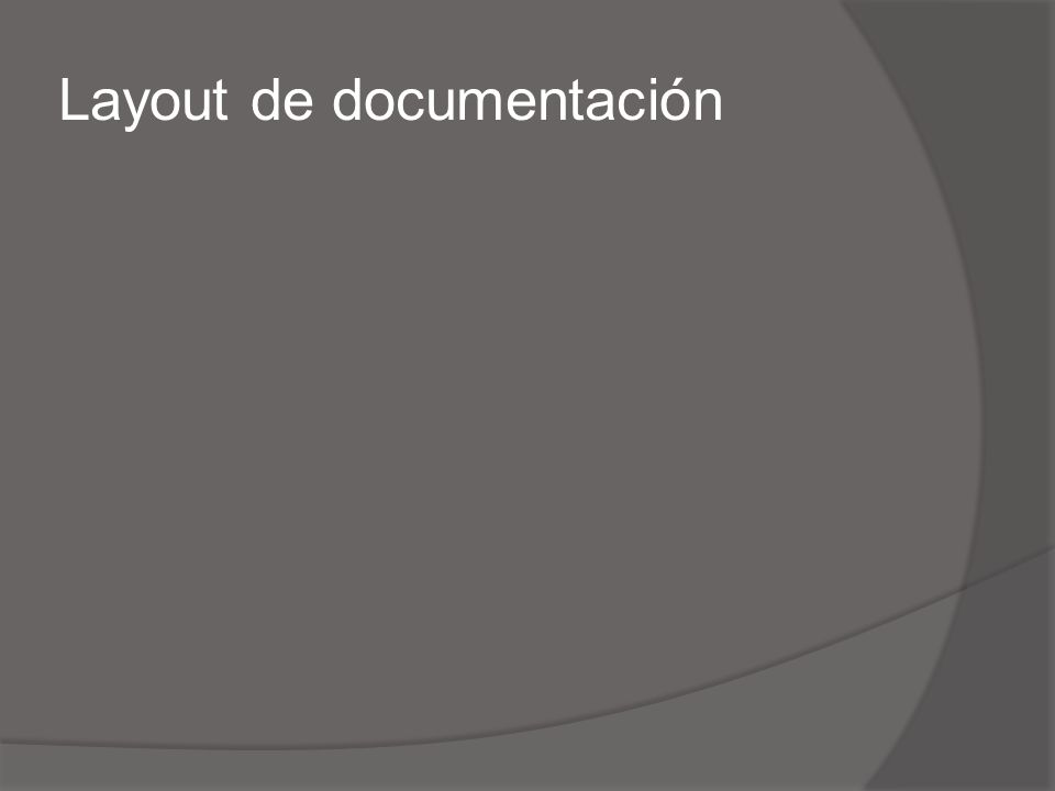 Layout de documentación