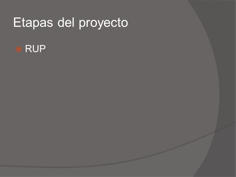 Etapas del proyecto RUP