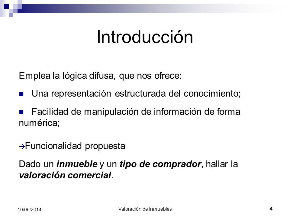 Valoración de Inmuebles 15 10/06/2014 Desarrollo del Sistema Desarrollo del motor de inferencia en X-Fuzzy Modelado del sistema Sintetizado Desarrollo de la BBDD Integración del motor de inferencia en aplicación