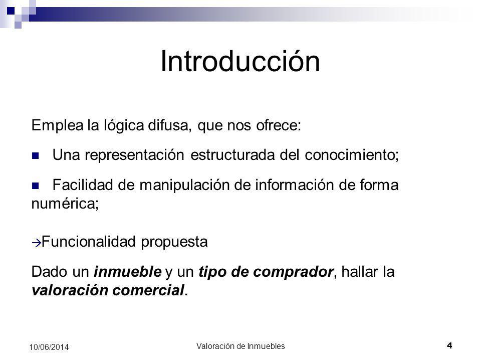 Valoración de Inmuebles 25 10/06/2014 Referencias \bibitem{XFUZZY} XFuzzy 3.0.
