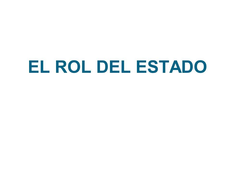 EL ROL DEL ESTADO