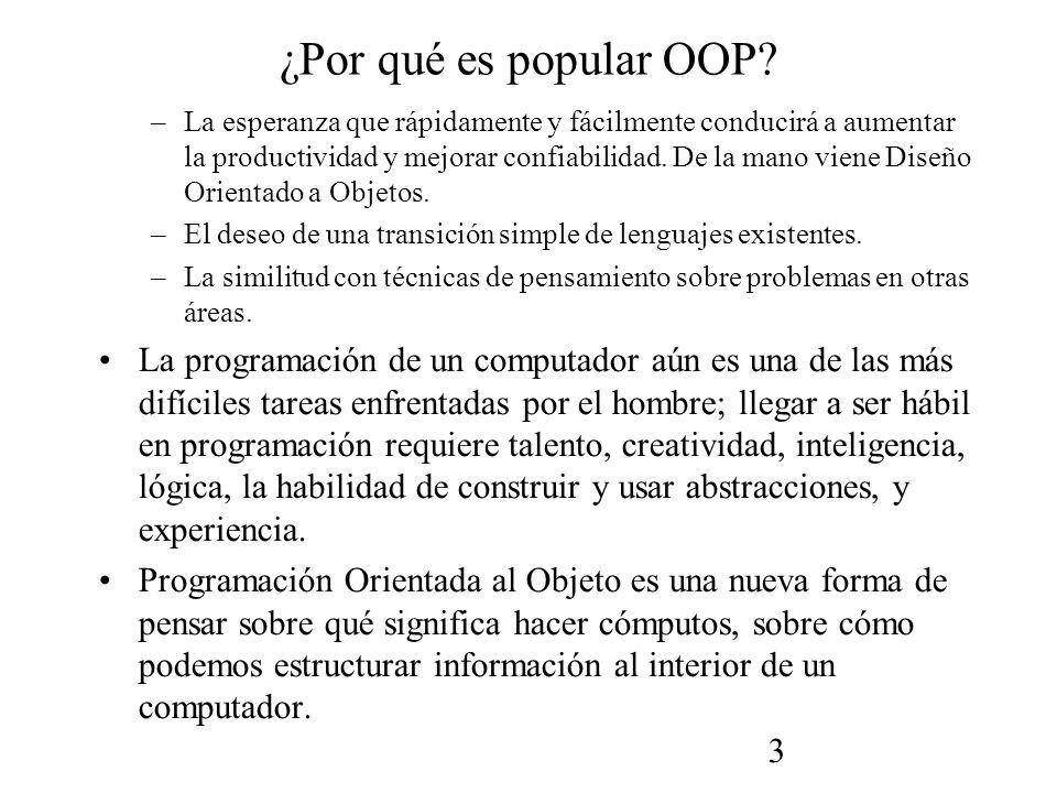 3 ¿Por qué es popular OOP.