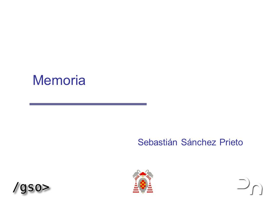 Memoria 2 1999-2003 S2P, OGP & IGT Definición La memoria es una amplia tabla de datos, cada uno de los cuales con su propia dirección Tanto el tamaño de la tabla (memoria), como el de los datos incluidos en ella dependen de cada arquitectura concreta Para que los programas puedan ser ejecutados es necesario que estén cargados en memoria principal La información que es necesario almacenar de modo permanente se guarda en dispositivos de almacenamiento secundarios también conocidos como memoria secundaria Memoria BF 33 C0 F0B50012 F0B50011 F0B50013