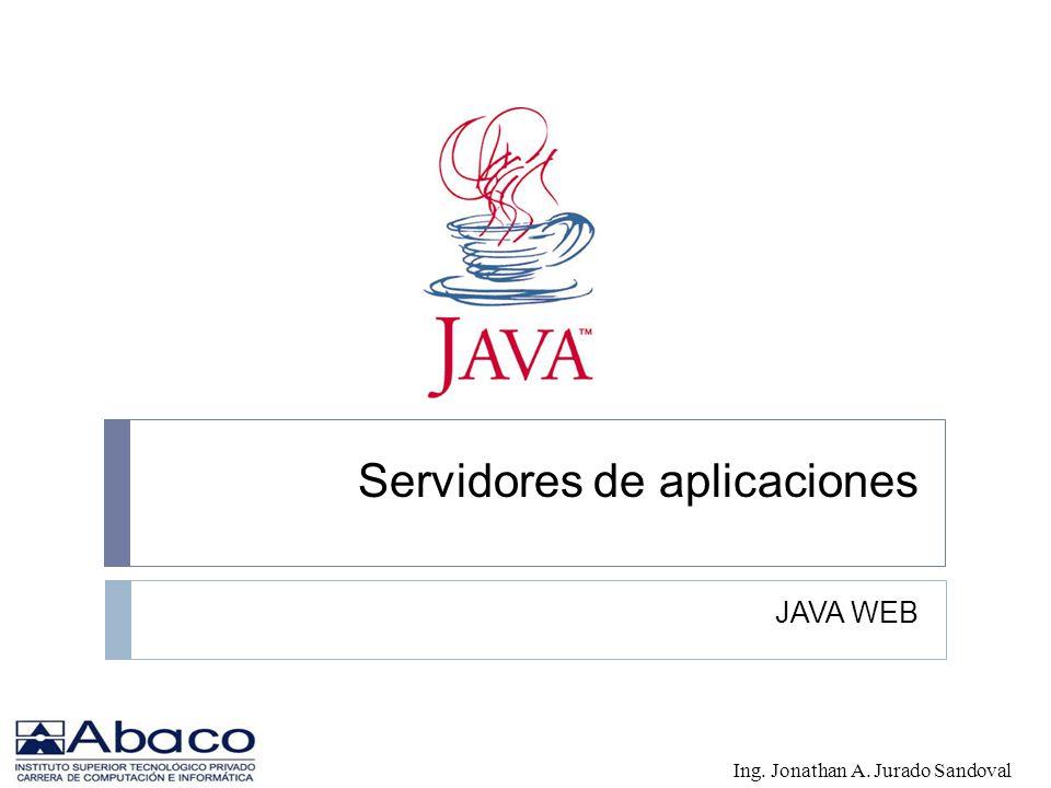 Servidores de aplicaciones JAVA WEB