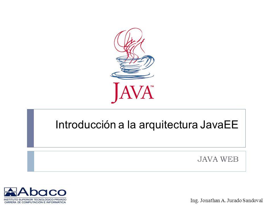 JavaEE Java Platform, Enterprise Edition o Java EE (anteriormente conocido como Java 2 Platform, Enterprise Edition o J2EE hasta la versión 1.4), es una plataforma de programaciónparte de la Plataforma Java para desarrollar y ejecutar software de aplicaciones en Lenguaje de programación Java con arquitectura de N niveles distribuida, basándose ampliamente en componentes de software modulares ejecutándose sobre un servidor de aplicaciones.