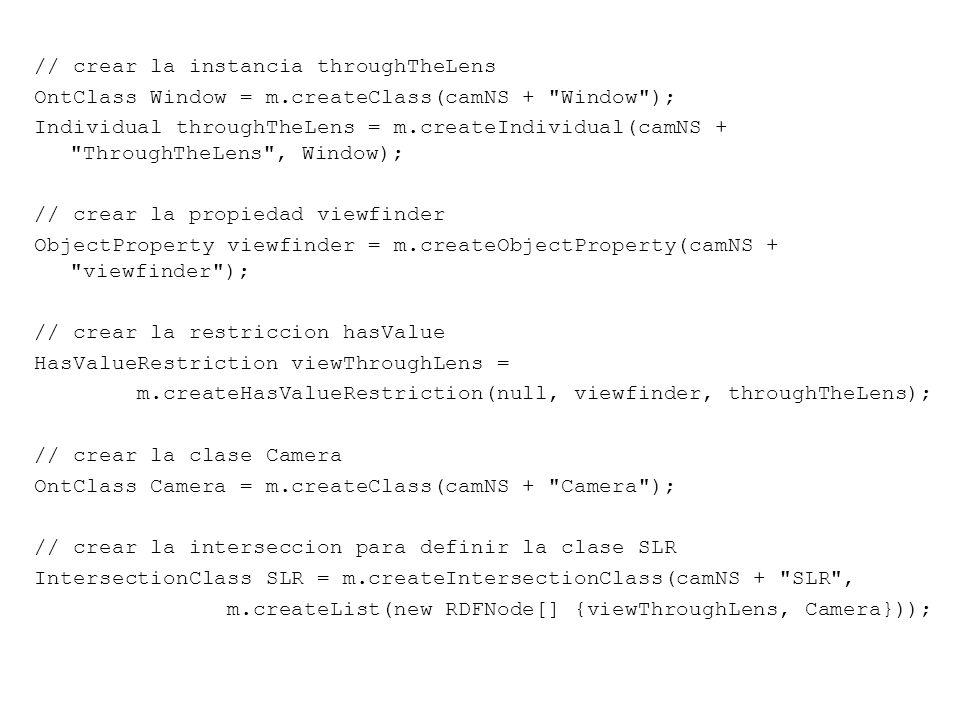 // crear la instancia throughTheLens OntClass Window = m.createClass(camNS +