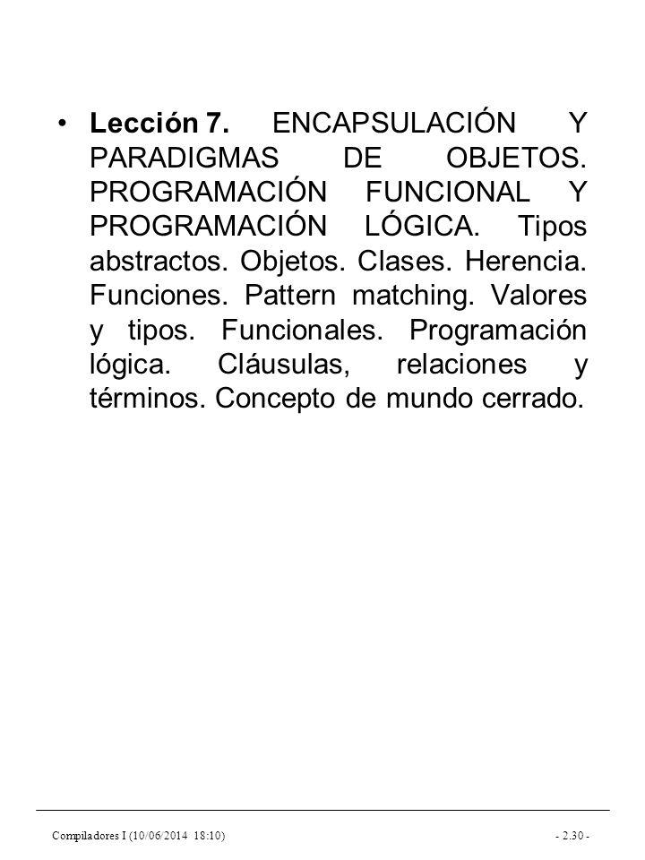 Compiladores I (10/06/2014 18:10)- 2.30 - Lección 7.ENCAPSULACIÓN Y PARADIGMAS DE OBJETOS.