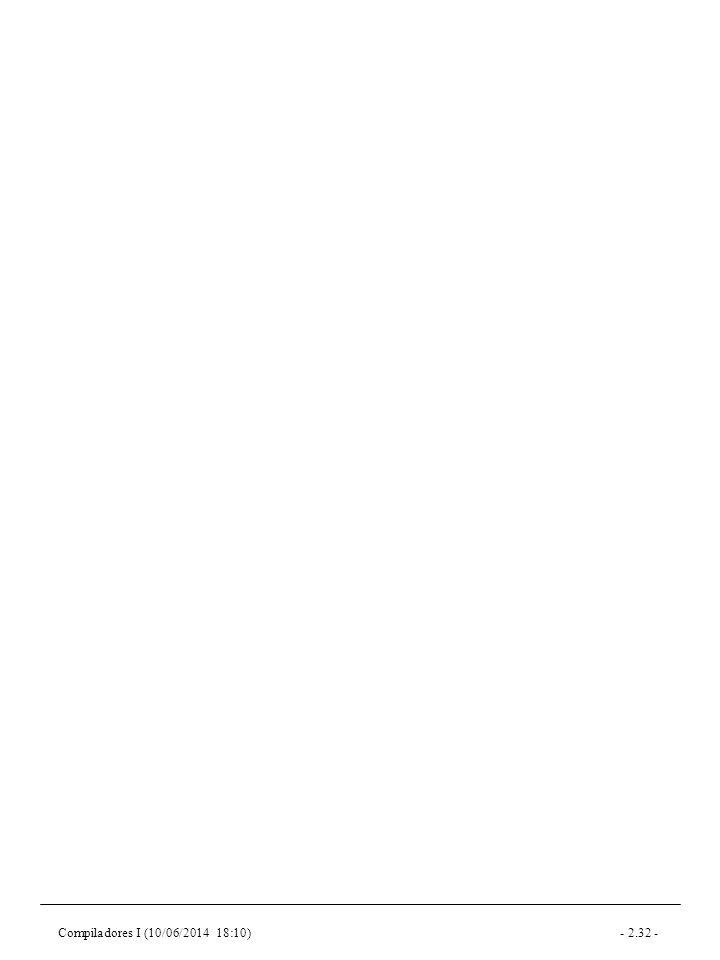 Compiladores I (10/06/2014 18:10)- 2.32 -