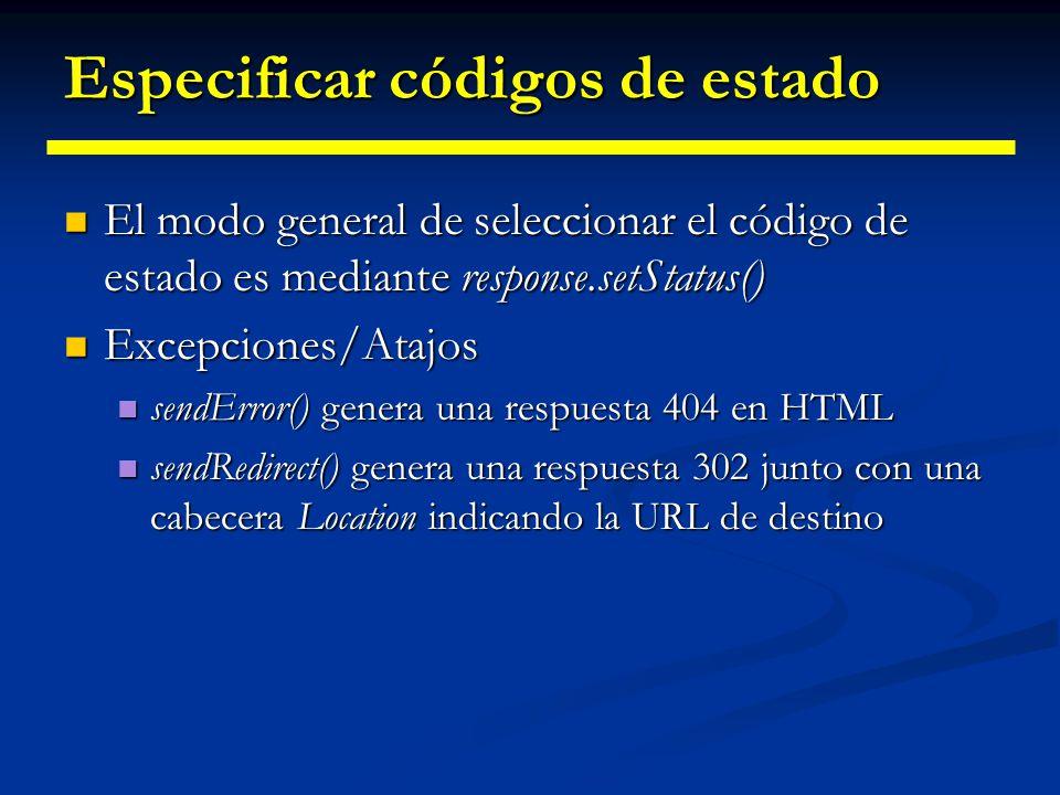 Servlets: Respondiendo: Códigos de estado 100Continue Continuar con la petición parcial.