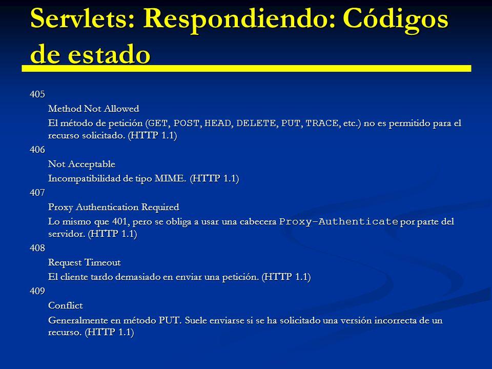 Servlets: Respondiendo: Códigos de estado 410Gone El documento no esta disponible.