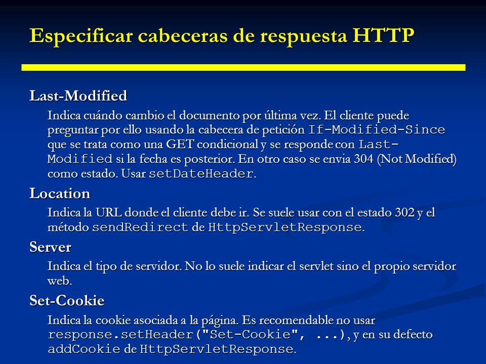 Especificar cabeceras de respuesta HTTP Refresh Indica cuándo debería pedir el navegador una página actualizada.