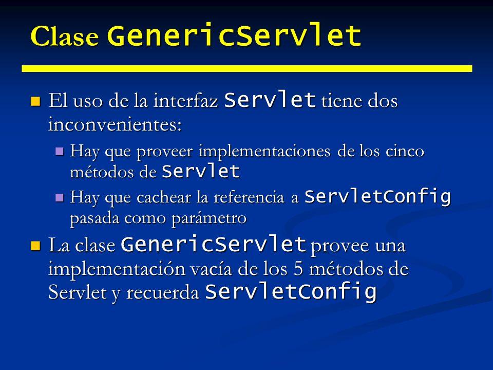 Paquete javax.servlet.http Normalmente siempre vamos a trabajar con él cuando programemos servlets.