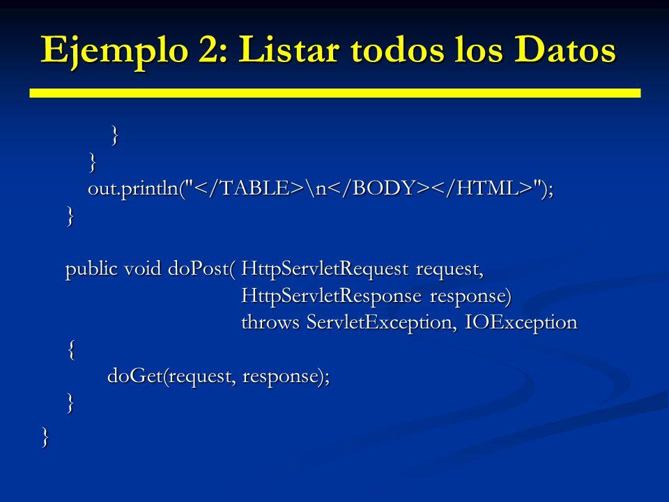 Ejemplo 2: Formulario de envío <HTML><HEAD> A Sample FORM using POST A Sample FORM using POST </HEAD> A Sample FORM using POST A Sample FORM using POST Item Number: Item Number: Quantity: Quantity: Price Each: Price Each: <HR> First Name: First Name:
