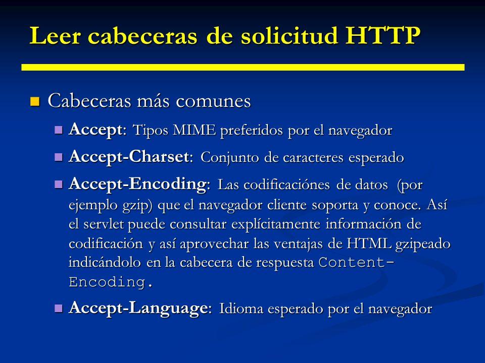 Leer cabeceras de solicitud HTTP Authorization: Información de autentificación, que generalmente se crea como respuesta a una cabecera WWW Authenticate enviada desde el servidor.