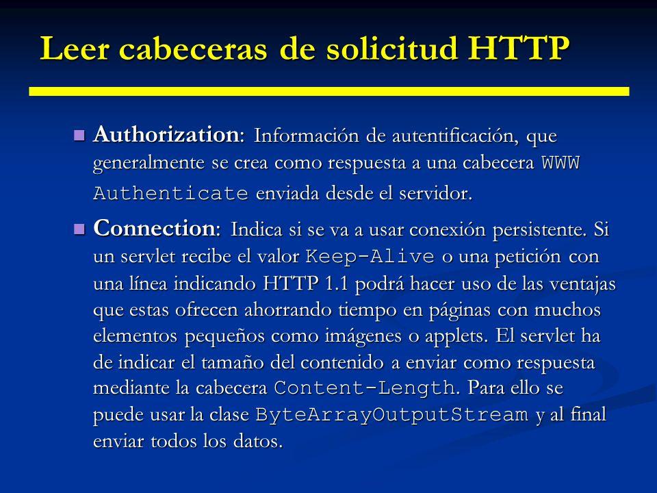 Leer cabeceras de solicitud HTTP Content-Length: Usada en los mensajes POST para indicar el tamaño de los datos.