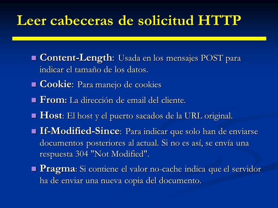 Leer cabeceras de solicitud HTTP Referer : La URL de la página que contenía el link que el cliente siguió para llegar a la pagina actual.