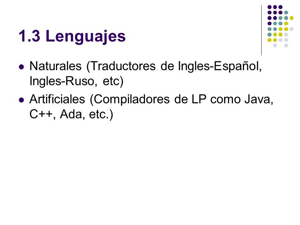 1.4 Traductor y su Estructura Ensambladores ….(notas)notas Compiladores…….(notas)notas Intérpretes……......(notas)notas