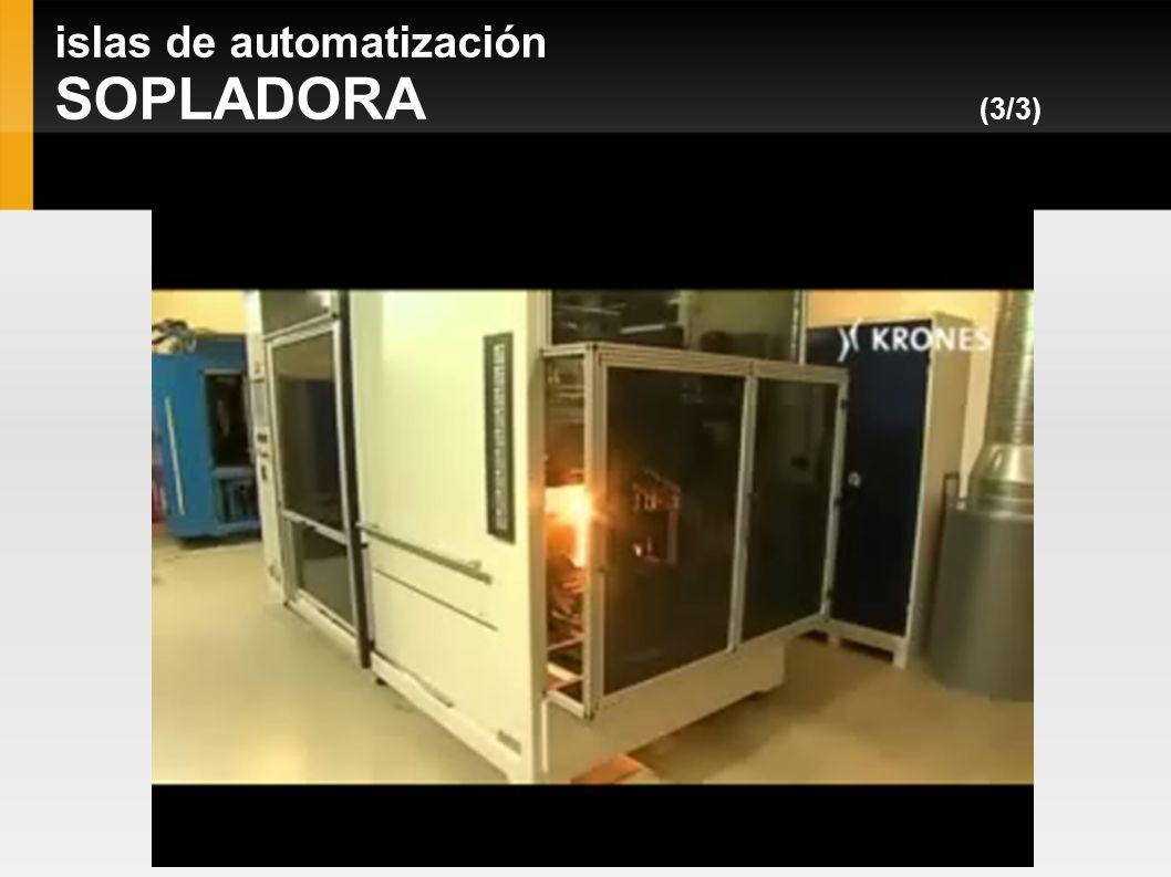 islas de automatización LLENADORA/TAPONADORA (1/4) KRONES Volumetic 12.000 - 14.000 botellas a la hora Entrada: Botellas Tinto de verano Salida: Botellas llenas y tapadas